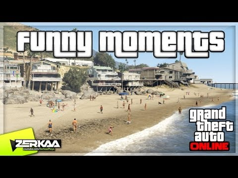 "GTA V Online Funny Moments | ""BEACH WARFARE"" 