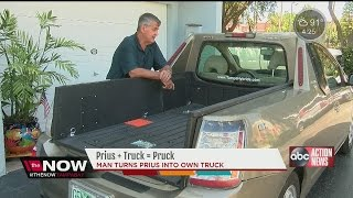 St. Petersburg man transforms Prius car into his own truck, the Pruck