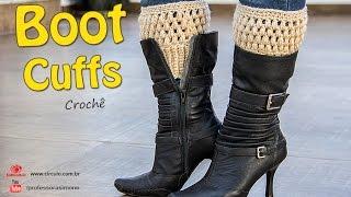 Boot Cuffs de Crochê – Com tabela de Tamanhos- P, M e G