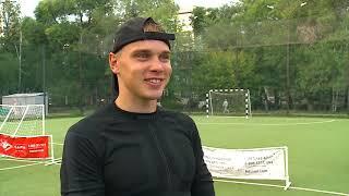 Лыжники сборной России Спицов и Якимушкин сыграли против журналистов Тюменской арены в мини футбол