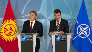 NATO Secretary General and President of Kyrgyz Republic - Joint Press Point, 17 September 2013