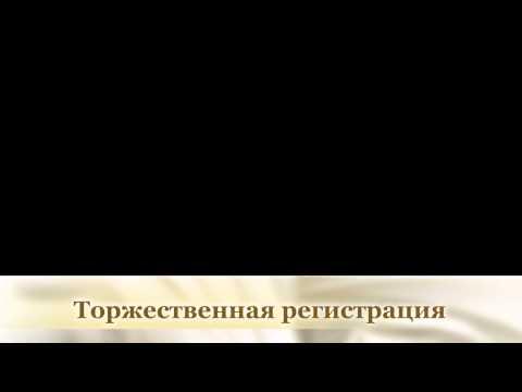 Торжественная регистрация - надпись на прозрачном фоне