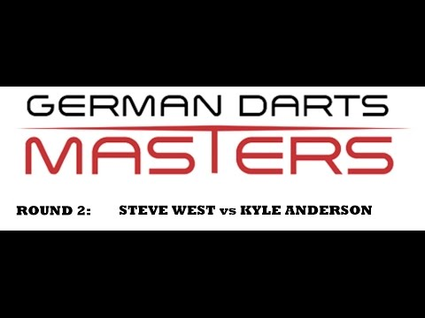 2017 German Darts Masters [HD] - Round 2 [3of16]: - Steve West vs Kyle Anderson