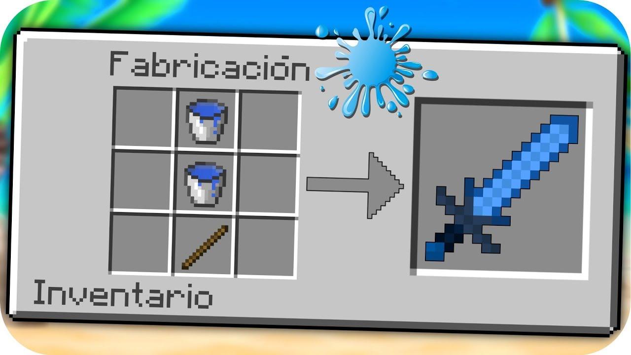 C 211 Mo Hacer Una Espada De Agua En Minecraft Beb 201 Adolfito