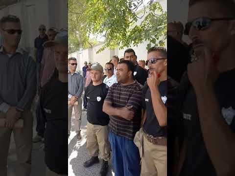 Greve general des agents de sécurité Algérie Télécom à cause de nouveau employeur al amine guard de