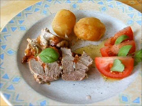Свинина с помидорами и моцареллой / Porc aux tomates et mozzarella.wmv
