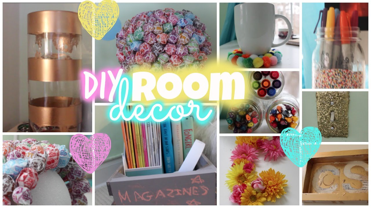 Diy room decor simple colorful youtube for Diy room decorations youtube