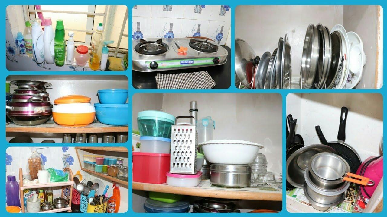 Kitchen Organization Ideas In Telugu My Small Kitchen Organization Indian Kitchen Youtube