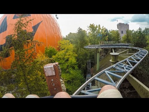 Matterhorn Blitz Wild Mouse Roller Coaster Front Seat POV Europa Park Germany