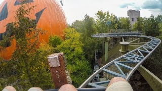 Matterhorn Blitz Wild Mouse Roller Coaster Front Seat POV Europa Park Germany