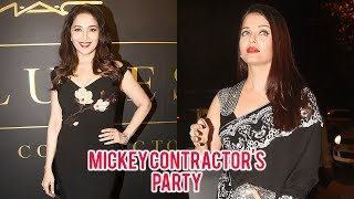 Devdas Stars Aishwarya Rai And Madhuri Dixit Together At Mickey Contractor's Party