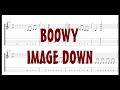 BOØWY - IMAGE DOWN [Guitar & Bass Tab]