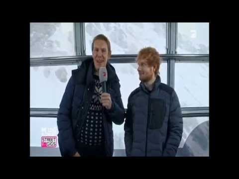 "Ed Sheeran Interview on Zugspitze for ""WE LOVE IN CONCERT"" Germany"