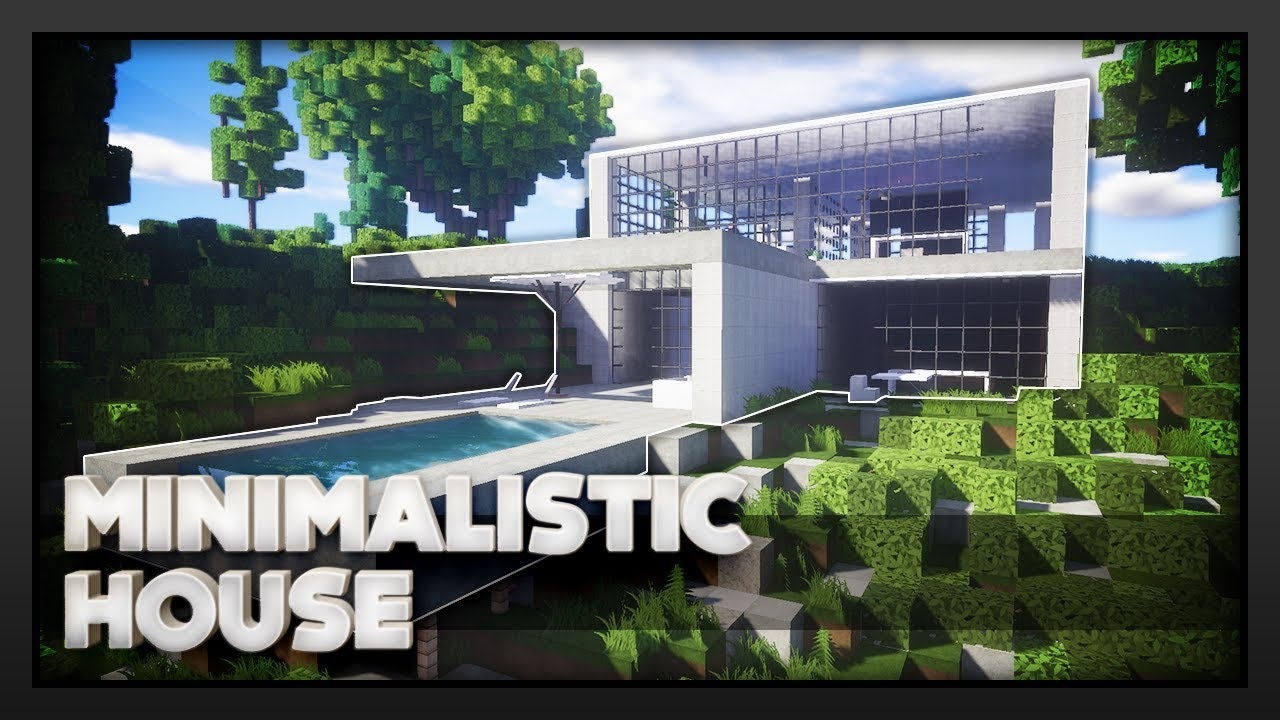 Minecraft Modern Minimalist House Youtube