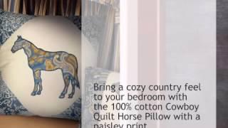 Cowboy Quilt Horse Pillow - Lonestarwesterndecor.com