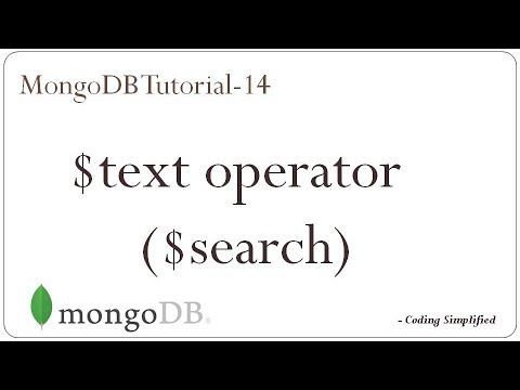 MongoDB Tutorial: 14 - $text query operator