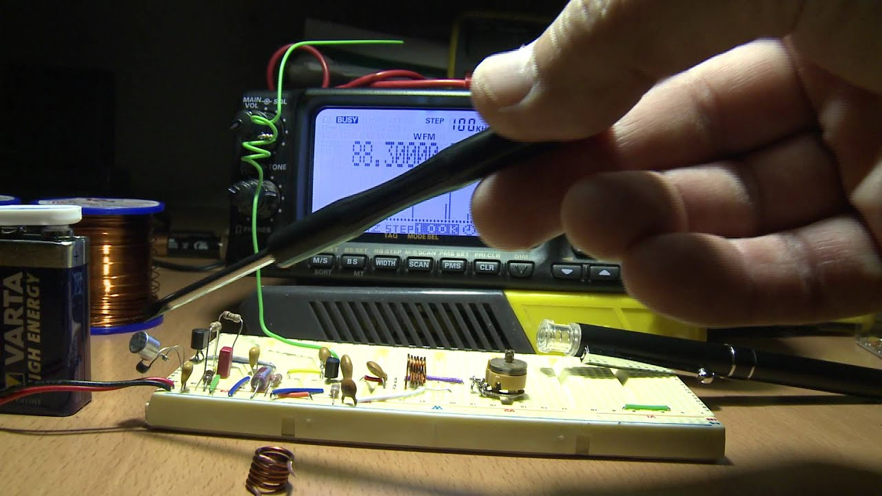 Mini Fm Transmitter Youtube Three Stage 9v