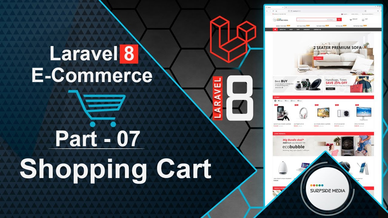 Laravel 8 E-Commerce - Shopping Cart