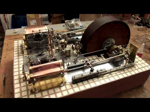 Antique Corliss Twin Tandem Mill Engine  made by Ted Atherton