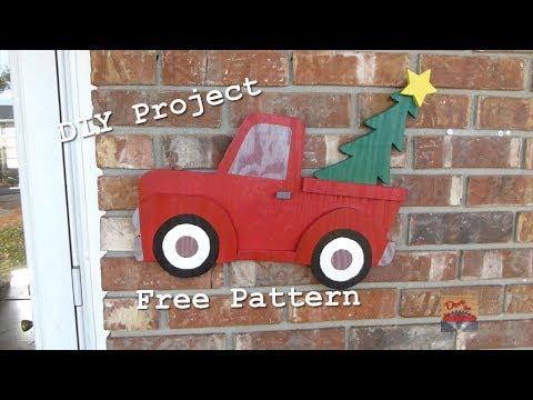 DIY Wooden Christmas Truck | Free Pattern