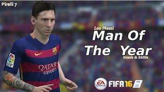 FIFA 16: Leo Messi ● Man Of The Year ● Goals & Skills  |HD| - Pirelli 7