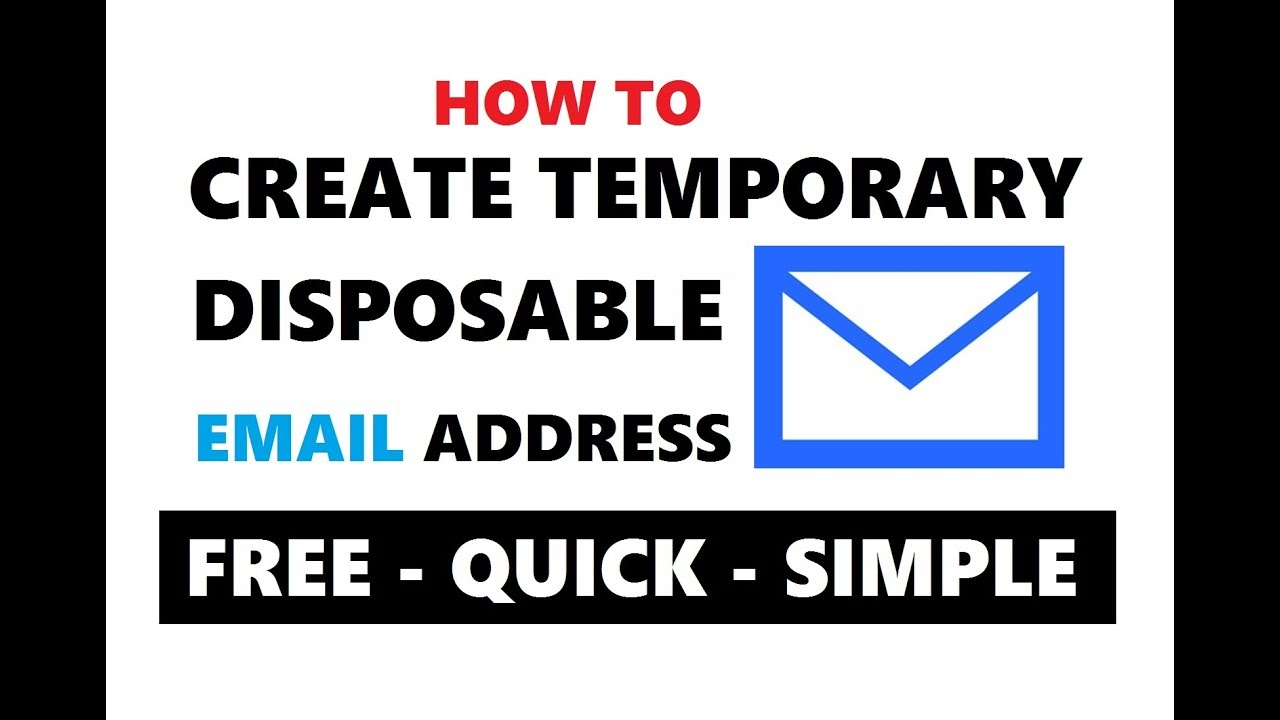 How To Create A Disposable Email Address For Verification | Best Temporary  Email Address 2019