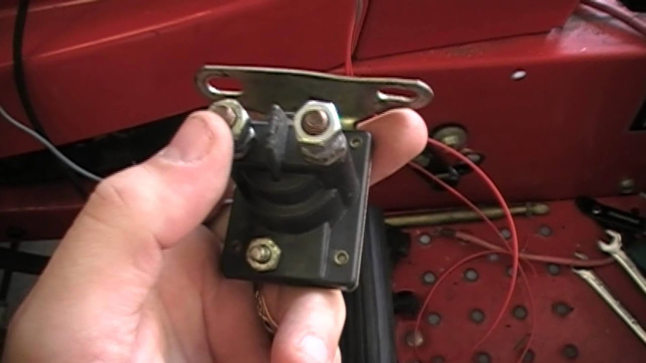 maxresdefault how to rewire a riding lawn mower super easy youtube tractor starter solenoid wiring diagram at crackthecode.co