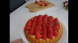 tarte aux fraises/ cilekli tart