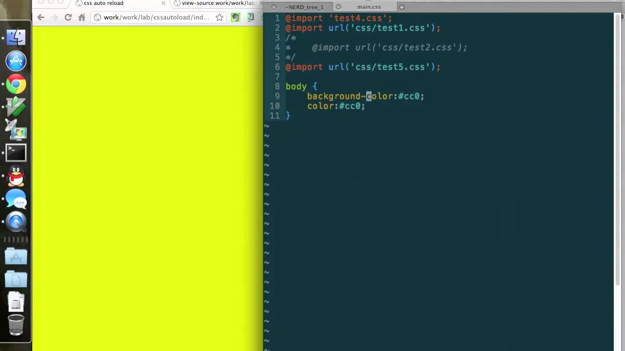 css auto reload -- chrome extension for web developer