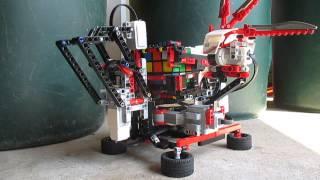 Lego Mindstorm Ev3 MindCub3r solving a Rubik