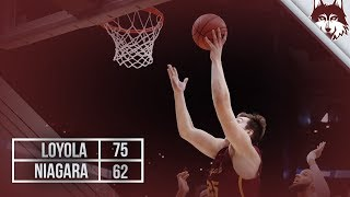 Loyola vs. Niagara | Men's Basketball Highlights