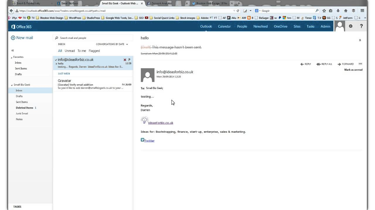 """Microsoft Office 365 Email Inbox Not Showing """"To"""" Field - YouTube"""