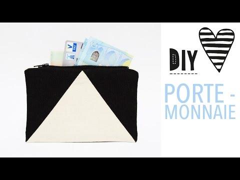Einfaches Portemonnaie nähen / DIY MODE Nähanleitung & Schnittmuster