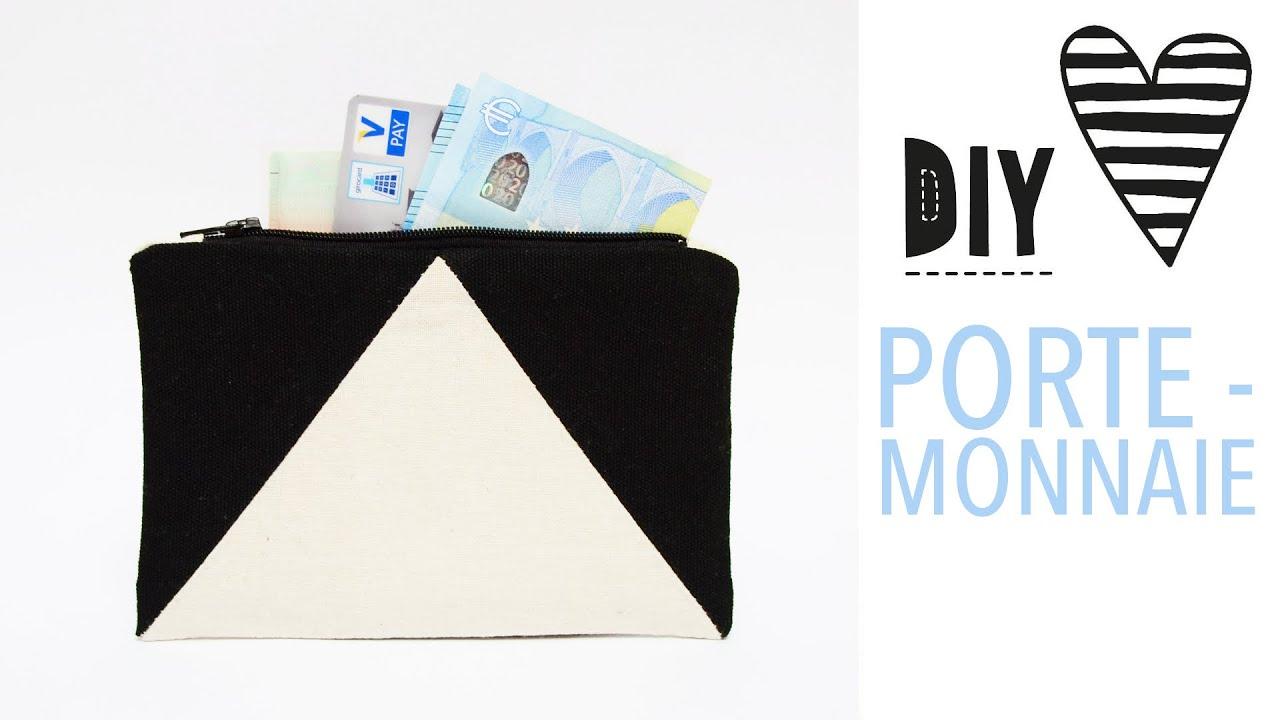 Einfaches Portemonnaie nähen / DIY MODE Nähanleitung & Schnittmuster ...