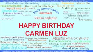 CarmenLuz   Languages Idiomas - Happy Birthday