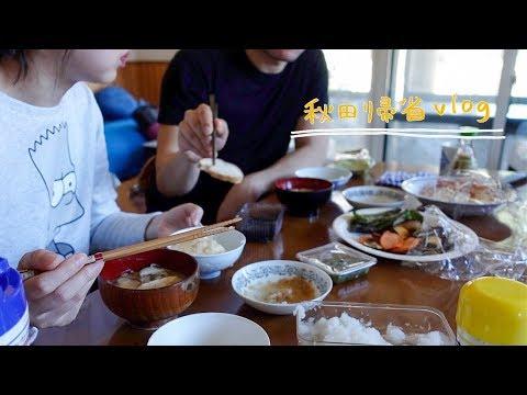 近所を散歩、父の山菜採り、男鹿半島観光、夜ごはんは天ぷらコース【日常vlog/日韓夫婦/日韓カップル】