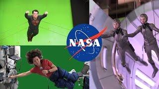 Лонжа  и зелёный экран у астронавтов прямо как в Голливуде