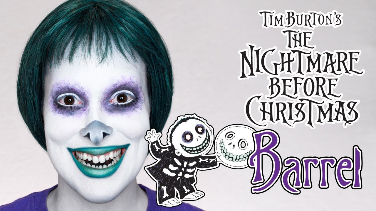 BARREL from THE NIGHTMARE BEFORE CHRISTMAS | Makeup Tutorial ...