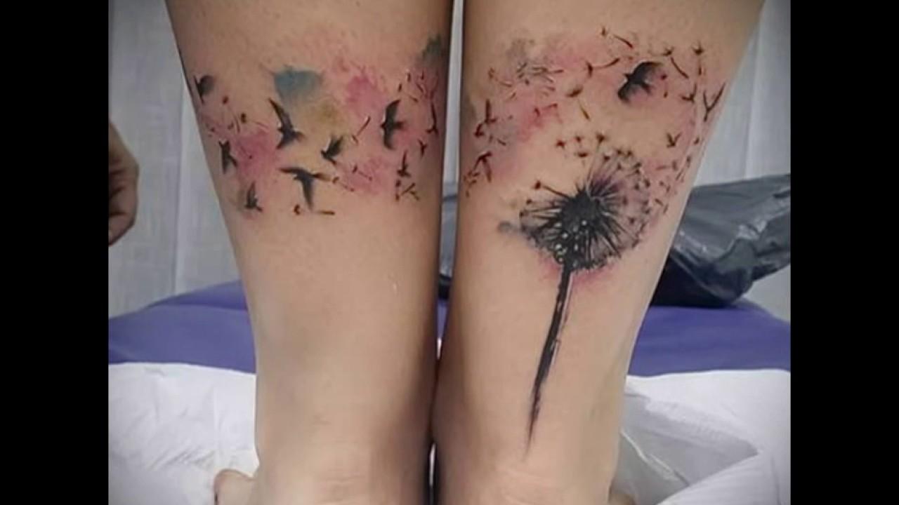 Значение тату одуванчик с птицами - крутые варианты татуировок на фото (Dandelion Tattoo with birds)