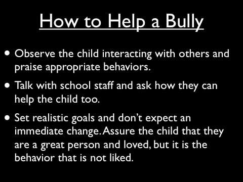 The Effects of Bullying on Children