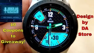 Samsung Galaxy Watch/Gear Watch Faces by DA Store - 10 Coupons to Giveaway! - Jibber Jab Reviews!