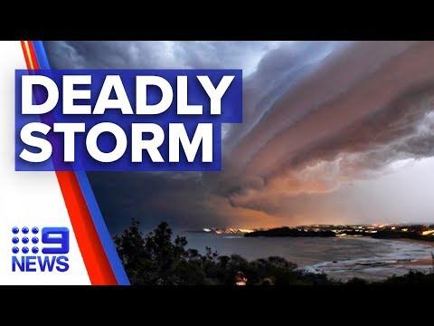 Man Killed As Destructive Storm Hits Sydney | Nine News Australia
