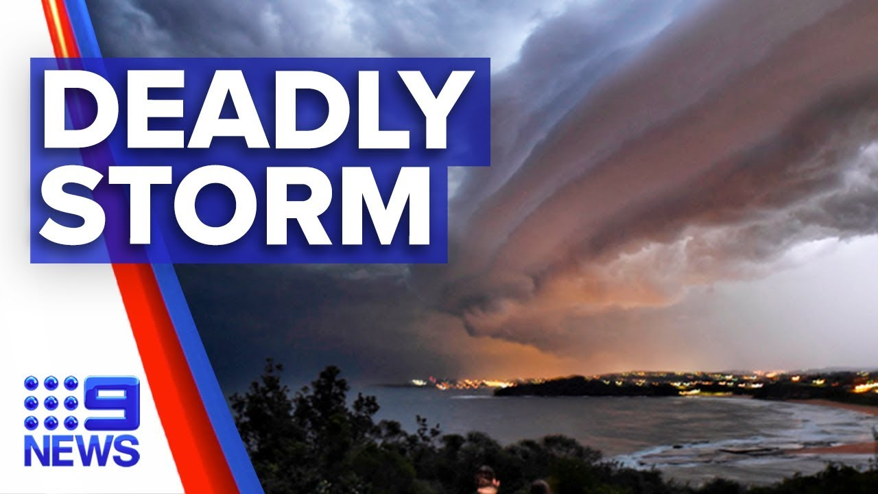 Man killed as destructive storm hits Sydney | Nine News Australia