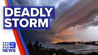 Man Killed As Destructive Storm Hits Sydney   Nine News Australia