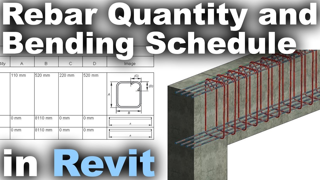 Rebar Quantity and Bending Schedule in Revit with English