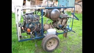 Gaisa kompresors no automašīnas iekšdedzes dzinēja darbībā!