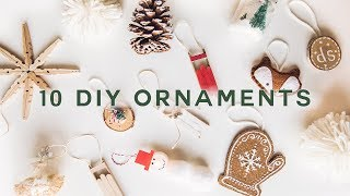 10 DIY CHRISTMAS ORNAMENTS - Cheap + Aesthetic (2019) // Lone Fox
