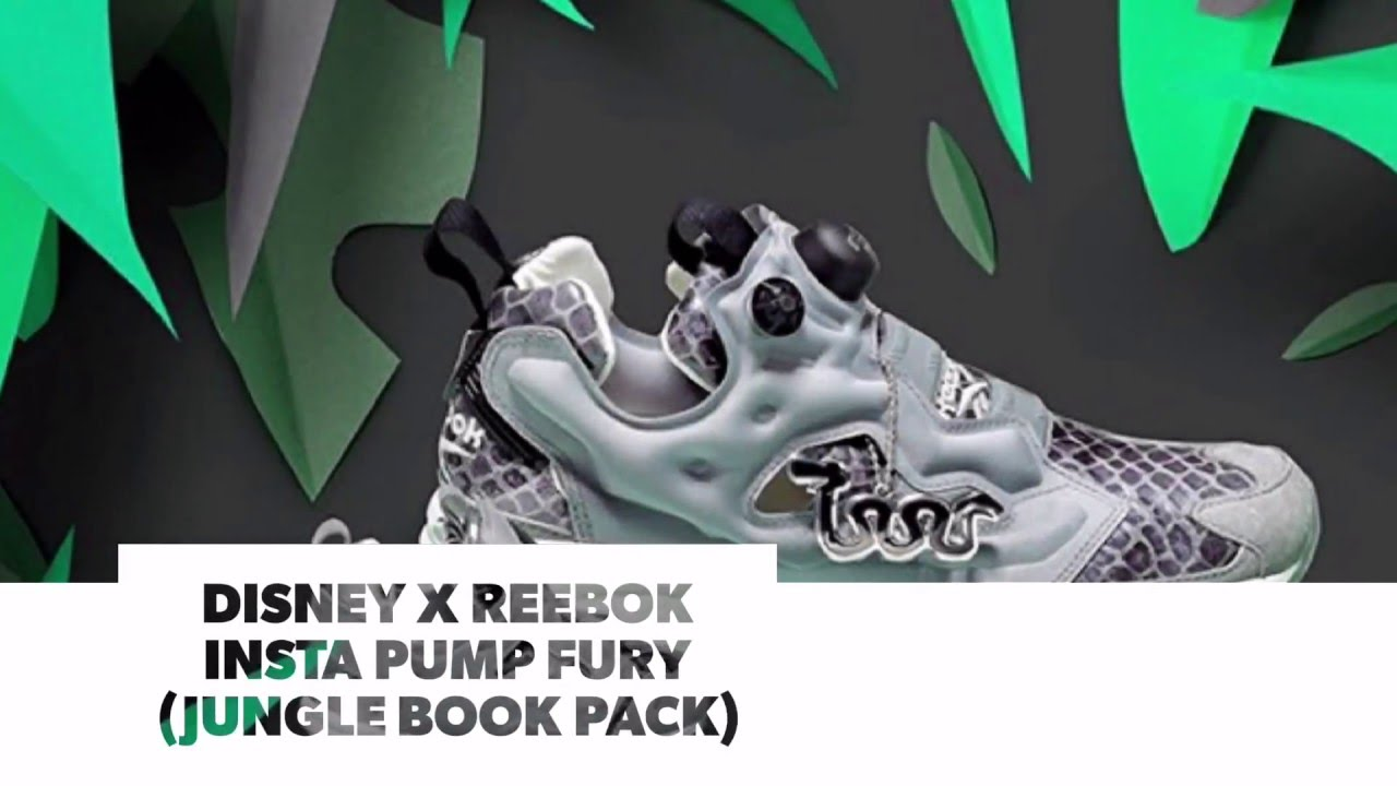 official photos 8ffc2 79226 DISNEY x REEBOK INSTA PUMP FURY (JUNGLE BOOK PACK)  S SNEAKERS - YouTube