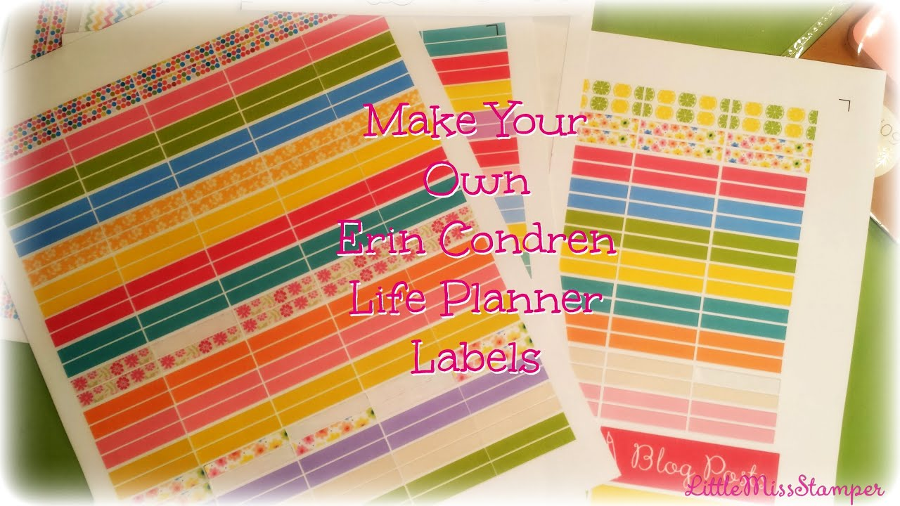 How to make your own erin condren life planner labels for Create custom planner