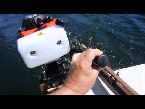 Repeat Hangkai 4 Stroke 3 6HP on Intex Mariner 4 at Humber river